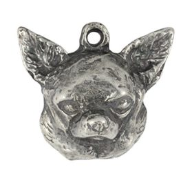Chihuahua (Smooth Haired), Silver Hallmark 925, Dog Silver Necklaces, Limited Edition, Artdog 2