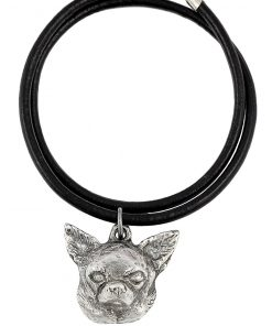 Chihuahua (Smooth Haired), Silver Hallmark 925, Dog Silver Necklaces, Limited Edition, Artdog