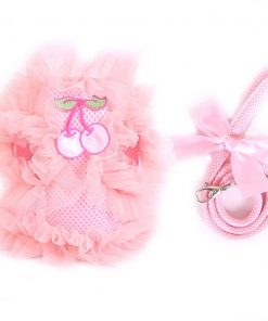 Cute Lace Small Pet Cat Dog Harness Vest And Leash Dog Puppy walk chest Collar Leads Small Dog Chihuahua Princess Jacket Clothes