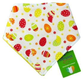 Dimples Dog Bandana - Easter Eggs (handmade for all sizes and breeds)