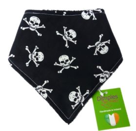Dimples Dog Bandana - Pirates Jolly Roger (handmade for all sizes and breeds)