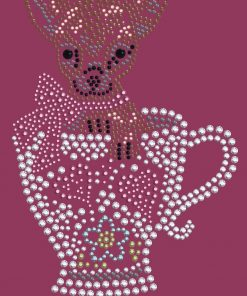 Dog in the Closet, Chihuahua in Teacup - Rhinestone Dog Bandana - Choice of Color 2