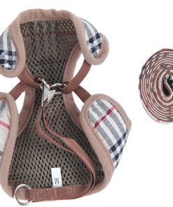 New Striped Soft Dog Harness And Lead Set For Chihuahua Pomeran Puppy 2