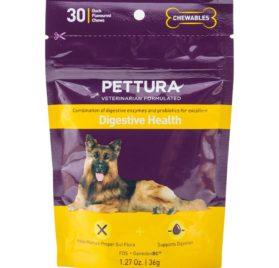 Pettura - Digestive Health, A Combination of Digestive Enzymes, Prebiotics & Probiotics, 30 Chews