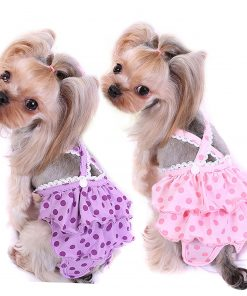Alfie Pet by Petoga Couture - Frona Diaper Dog Sanitary Pantie with Suspender for Girl Dogs