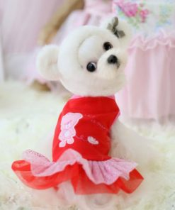 Chicpaw For Teacup Dogs Puppy Coat Chihuahua Red Bear Pet Clothes Dress