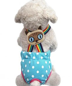 Lovely Rainbow Pet Dog Puppy Teddy Tighten Strap Reusable Diapers Washable Cotton Dog Season Sanitary Physiological Shorts Pants