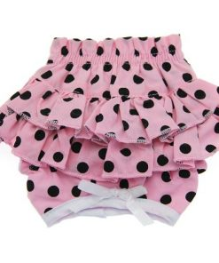 Sanitary Pants For Dogs - Pink With Black Polka Dots