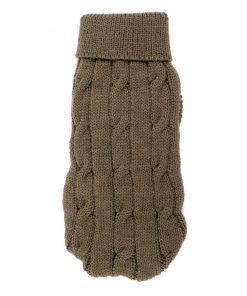 Uxcell Pet Chihuahua Twisted Knit Turtleneck Apparel Sweater, XX-Small, Brown