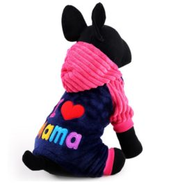 iEFiEL I Love Papa Mama Pets Pups Cats Sweet Hooded Coat Winter Suit 2