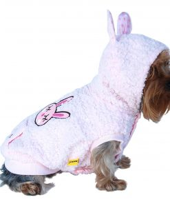 Anima Pink Fluffy Bunny Hoodie, XX-Small 2