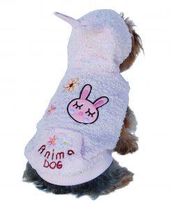 Anima Pink Fluffy Bunny Hoodie, XX-Small