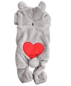 Dog Outfits, FuzzyGreen Cute Bear Costume Jumpsuit Hoodie Clothes Apparel for Dog Puppy Pet (XS, Grey) 2
