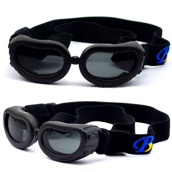 Dog Sunglasses, IN HAND UV Protective Foldable Pet Sunglasses Goggles with Adjustable Strap for Cat or Small Dogs 2