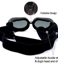 Dog Sunglasses, IN HAND UV Protective Foldable Pet Sunglasses Goggles with Adjustable Strap for Cat or Small Dogs 5