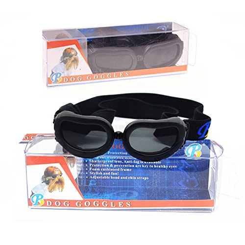 Dog Sunglasses, IN HAND UV Protective Foldable Pet Sunglasses Goggles with Adjustable Strap for Cat or Small Dogs 7