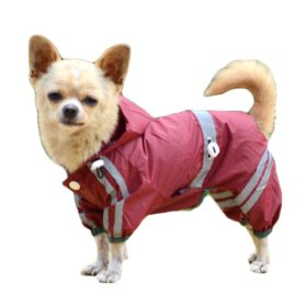 Dog Waterproof Raincoat Outdoor Hooded Rain Coat for Teddy ,Pug,Chihuahua,Shih Tzu,Yorkshire Terriers,Papillon