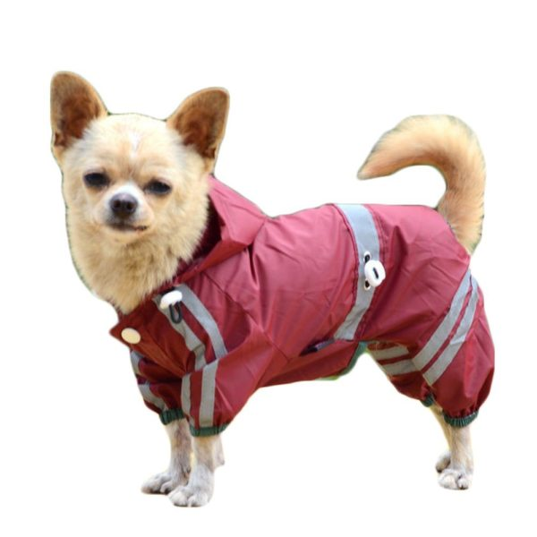 Dog Waterproof Raincoat Outdoor Hooded Rain Coat for Teddy ,Pug,Chihuahua,Shih Tzu,Yorkshire Terriers,Papillon