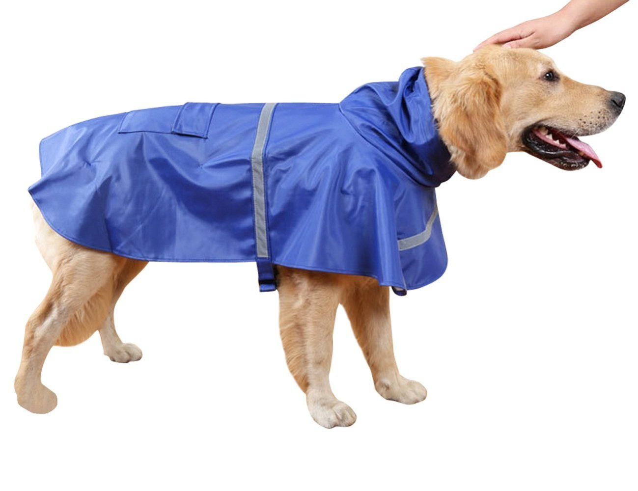 Medium Large Dog Rain Coat Waterproof Jacket Trousersuit for Sun Rain Protection