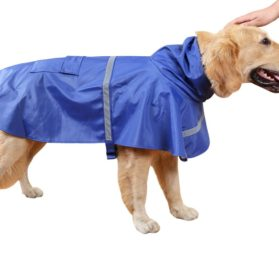 Dora Bridal Waterproof Dog Hooded Raincoat, Adjustable Pet Poncho Clothes, Hood Rain Jacket, Sunshine Garment Rain Cape Rainwear for Small Puppy