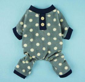 Fitwarm® Adorable Polka Dots Fleece Dog Pajamas Pet Coats Soft Pjs Apparel 2