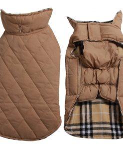 JoyDaog Reversible Plaid Dog Coat (7 Sizes) Waterproof Windproof Warm for Cold Weather Dog Jacket 2
