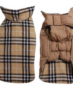 JoyDaog Reversible Plaid Dog Coat (7 Sizes) Waterproof Windproof Warm for Cold Weather Dog Jacket
