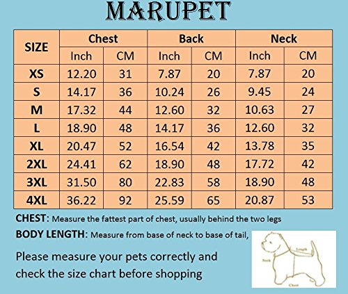 MaruPet Adjustable Small to Large Dog Waterproof Raincoat Lightweight Rain Jacket Poncho with Strip Reflective for Teddy, Pug, Chihuahua, Shih Tzu, Golden Retriever, Husky, Samoye 2