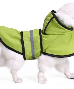MaruPet Adjustable Small to Large Dog Waterproof Raincoat Lightweight Rain Jacket Poncho with Strip Reflective for Teddy, Pug, Chihuahua, Shih Tzu, Golden Retriever, Husky, Samoye