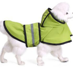 MaruPet Adjustable Small to Large Dog Waterproof Raincoat Lightweight Rain Jacket Poncho with Strip Reflective for Teddy, Pug, Chihuahua, Shih Tzu, Golden Retriever, Husky, Samoye