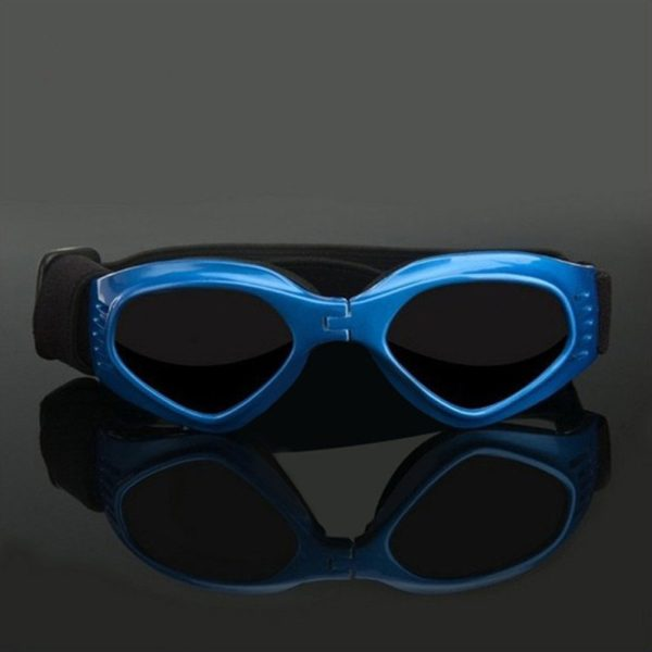 [NEW VERSION] CocoPet Cool Dog Goggles Pet Sunglasses Eye Wear UV Protection Waterproof Sunglasses for Puppy Dogs Small Medium Blue 3