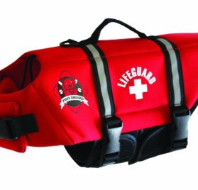 Paws Aboard Red Neoprene Life Jacket, Dog or Cat Life Preserver 2