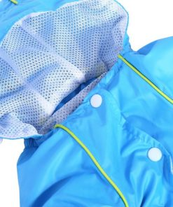 Pet Dog Raincoat Waterproof Jumpsuit Puppy Drawstring Hooded Rain Jacket Blue Slicker Outdoor Protection Clothes, XS 5