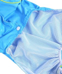 Pet Dog Raincoat Waterproof Jumpsuit Puppy Drawstring Hooded Rain Jacket Blue Slicker Outdoor Protection Clothes, XS 6