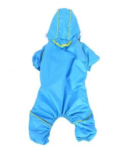 Pet Dog Raincoat Waterproof Jumpsuit Puppy Drawstring Hooded Rain Jacket Blue Slicker Outdoor Protection Clothes, XS 7