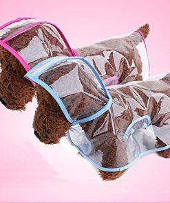 Pet Raincoat , Small Dog Waterproof Clothes Rain Jacket Puppy Transparent Poncho Rainwear Clothes for Small Dog 2
