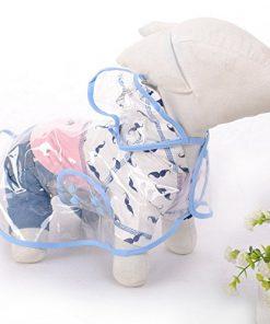Pet Raincoat , Small Dog Waterproof Clothes Rain Jacket Puppy Transparent Poncho Rainwear Clothes for Small Dog 3