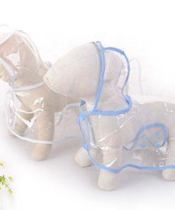 Pet Raincoat , Small Dog Waterproof Clothes Rain Jacket Puppy Transparent Poncho Rainwear Clothes for Small Dog 4