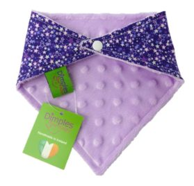 Dimples Dog Bandana - Purple Fantasy Stars (handmade for all sizes and breeds) 2