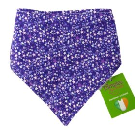 Dimples Dog Bandana - Purple Fantasy Stars (handmade for all sizes and breeds)