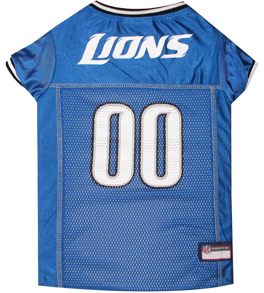 NFL PET JERSEY Football Licensed Dog Jersey 32 NFL Teams Available Comes in  6 Sizes Football Pet Jersey Sports Mesh Jersey Dog Jersey Outfit (Detroit  Lions) c36cafa8f