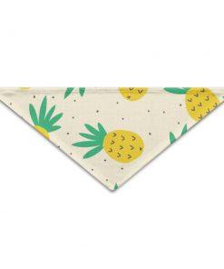 PETLOVEPET Summer Pineapple Pattern Triangle Pet Scarf Dog Bandana Pet Collars For Dog Cat One Size