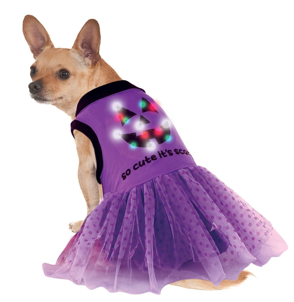Rubies Costume Led Light Up Halloween Dog Costume Dress