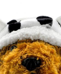 SMALLLEE_LUCKY_STORE Small Dog-Cat Fleece Winter Hat Cap Costume Christmas Dress Up