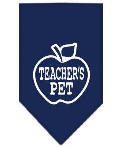 Teachers Dog Screen Print Dog Bandanas