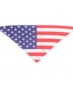 USA Flag Dog Bandana Neckerchief Scarf Triangle (21 inch)