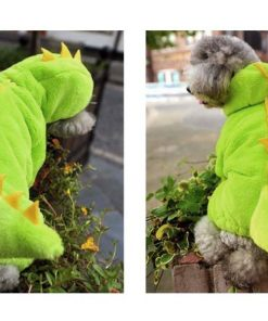 ARJOSA Puppy Dog Cat Thickened Hoodie Jumpsuit Dinosaur Dragon Costume Winter Coat Clothes 2