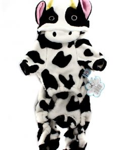 ARJOSA Puppy Dog Pet Halloween Costume Cow Jumpsuit Hoodie Clothes