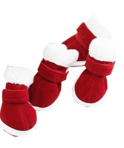 Elevin(TM)1Set Christmas Dress up Pet Dog Chihuahua Snow Warm Boots Puppy Shoes for Small Dog