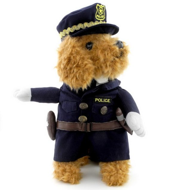 PETLOVE Small Puppy Pet under 20 pounds Dog Cat Policeman Costume Police Hat